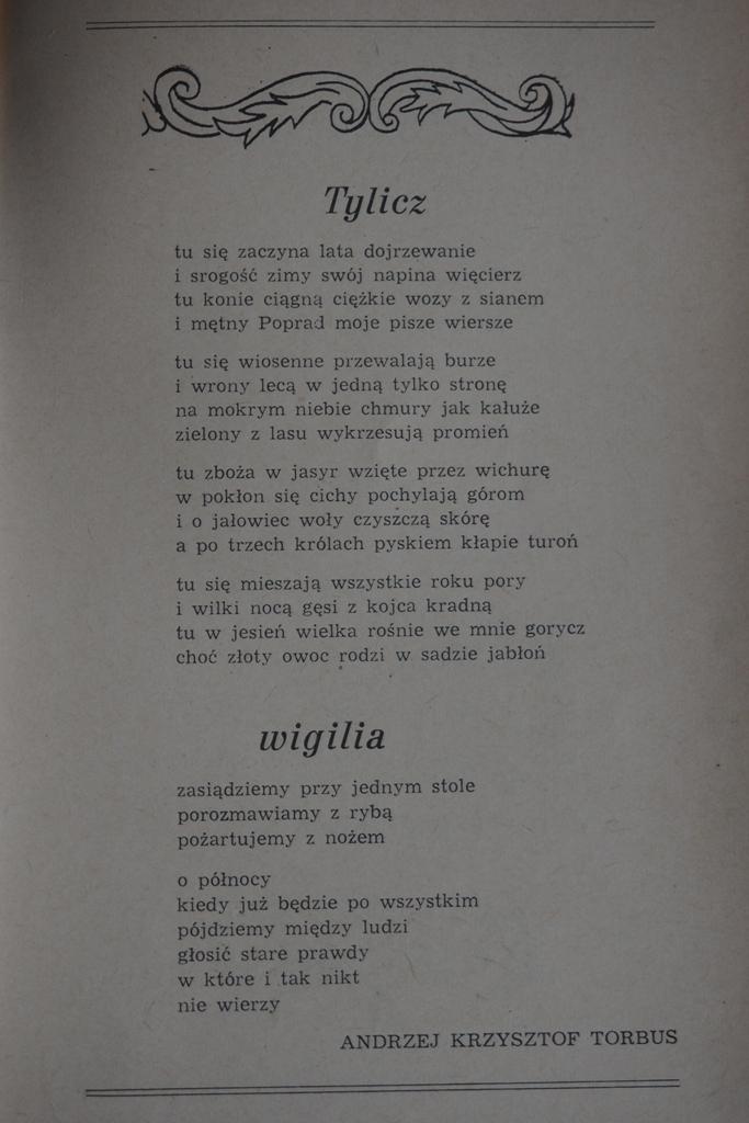 Poeci Sądecczyzny Andrzej Krzysztof Torbus Andrzej